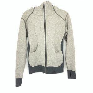 Lululemon Gray Zip Up Jacket with Thumbhole